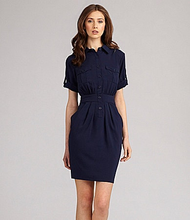 Calvin Klein Drape Pocket Shirtdress