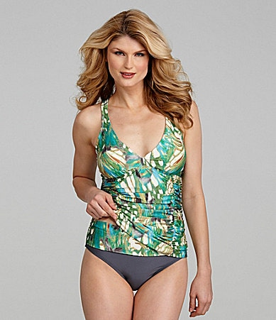 Antonio Melani Swim Butterfly Corset Tankini Top & Banded Bottom