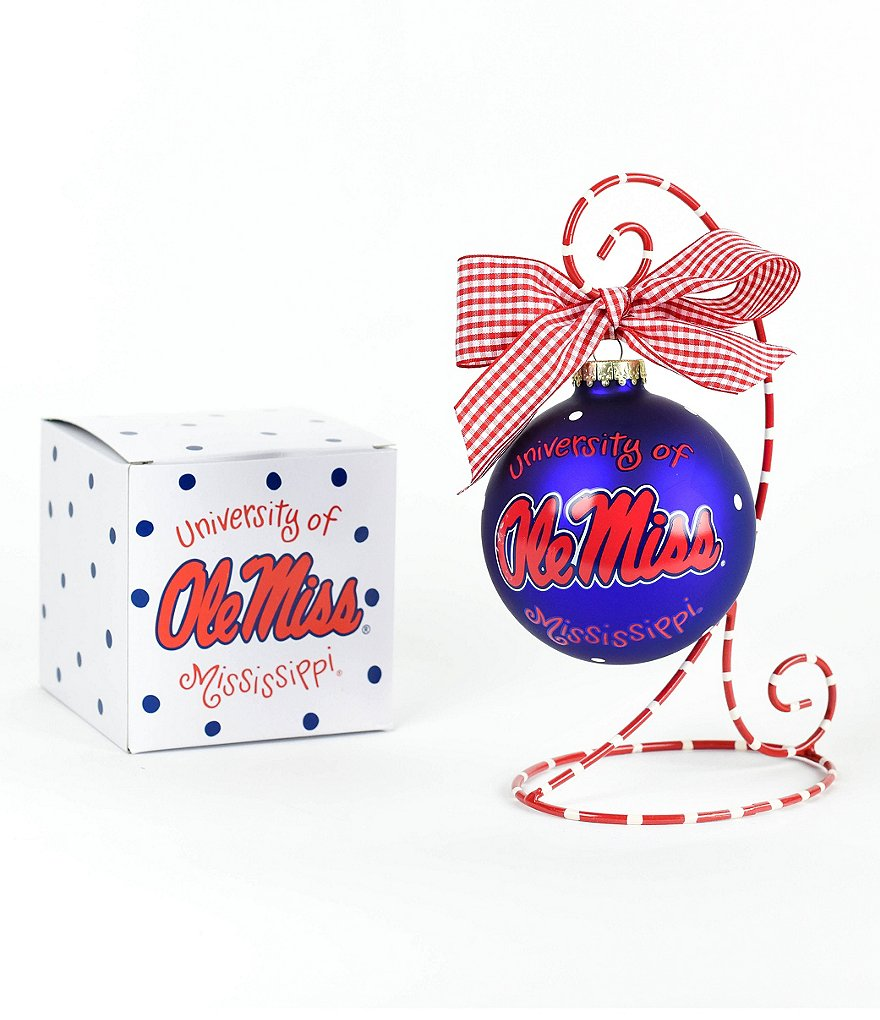 Coton Colors University of Mississippi Logo Ornament