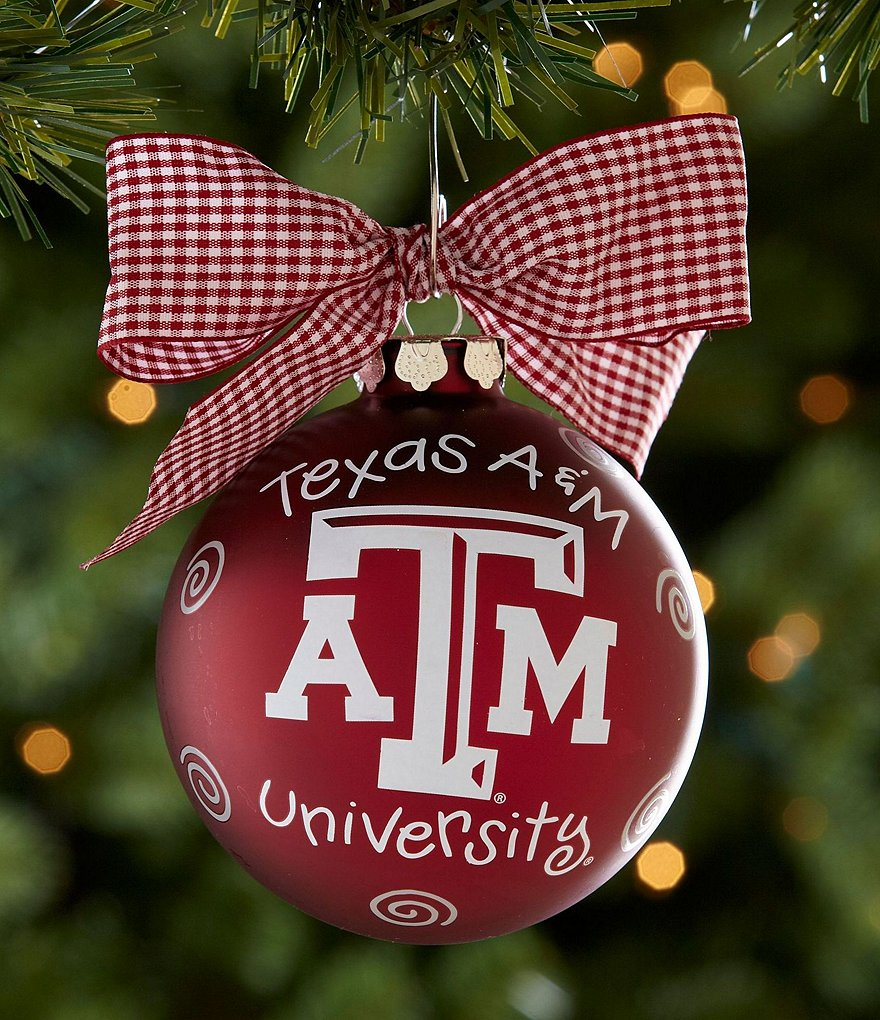 Coton Colors Texas A&M University Logo Ornament