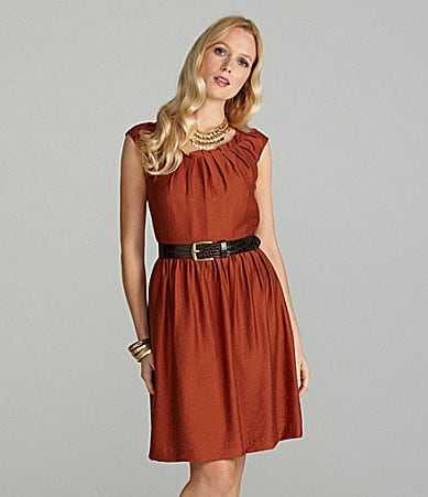 Cremieux Olivia Belted Pleat Dress