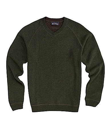 Cremieux Solid Reversible Double Knit Sweater