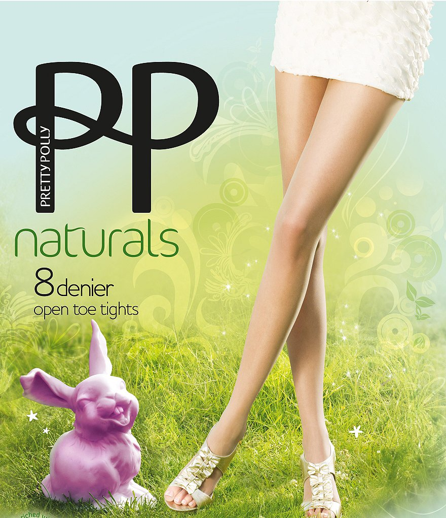 Pretty Polly Open Toe Naturals Pantyhose