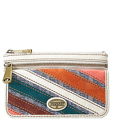 Fossil Explorer Patchwork Flap Clutch Wallet