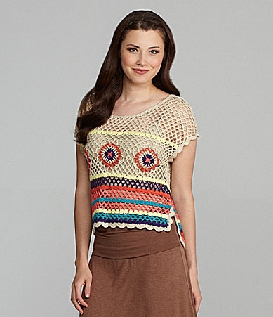 Chelsea & Violet Bright Crochet Top