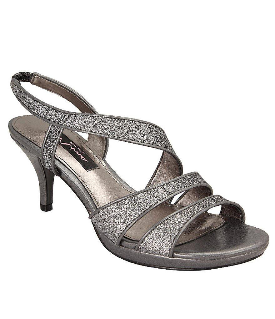 Nina Nolga Glitter Sandals Dillards