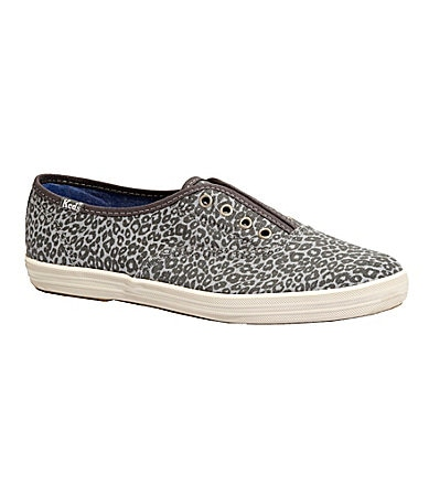 Keds Laceless Animal-Print Sneakers