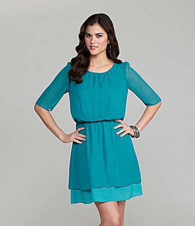Gianni Bini Lori Chiffon Blouson Dress