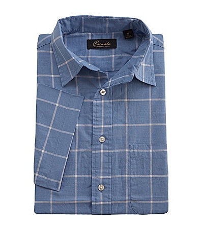 Roundtree & Yorke Casuals Big & Tall Plaid Slub Sportshirt