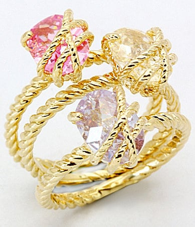 Glitterrings Stackable Candy Stone Rings