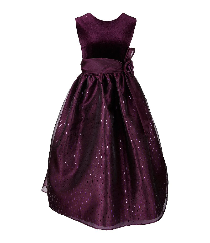 Jayne Copeland Big Girls 7-12 Velvet-Organza Dress