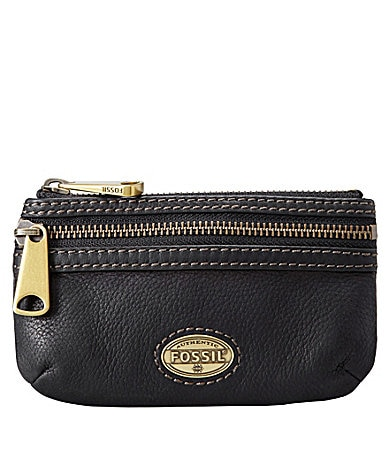 Fossil Explorer Double-Zip Coin Pouch