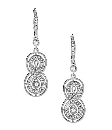 Nadri Rosa Inifinity Drop Earrings