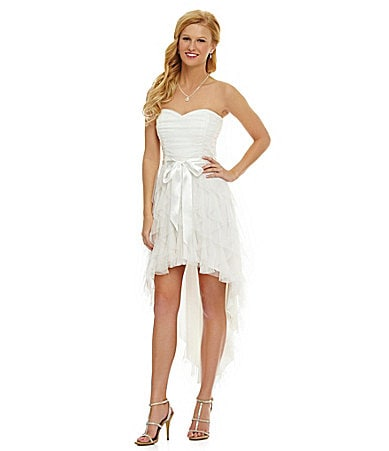 Teeze Me Strapless Hi-Low Dress
