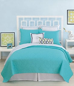 Trina Turk Santorini Blue Coverlet Collection