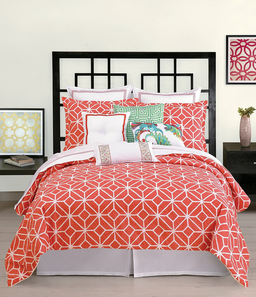 Trina Turk Trellis Coral Bedding Collection
