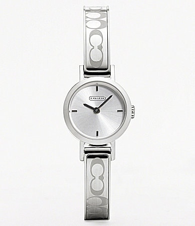 COACH SIGNATURE STUDIO BANGLE WATCH