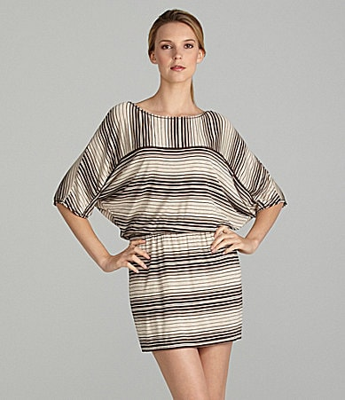 M.S.S.P Stripe Dolman Sleeve Dress