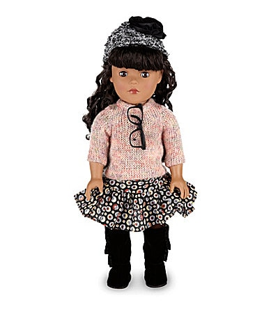 Dollie & Me Fuzzy Sweater African-American Doll