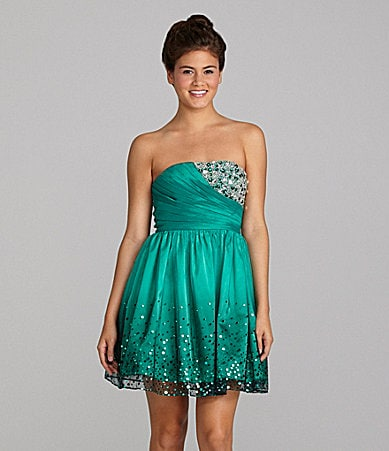 Inspire Me Strapless Sequin Dress