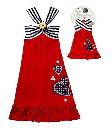 Sweet Heart Rose for Dollie & Me 7-10 Convertible Halter Dress