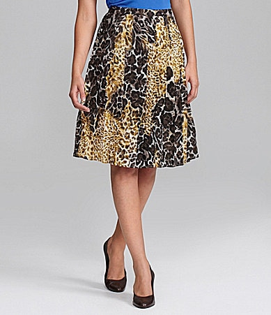 Alex Marie Petites Khloe Animal-Print Chiffon Skirt