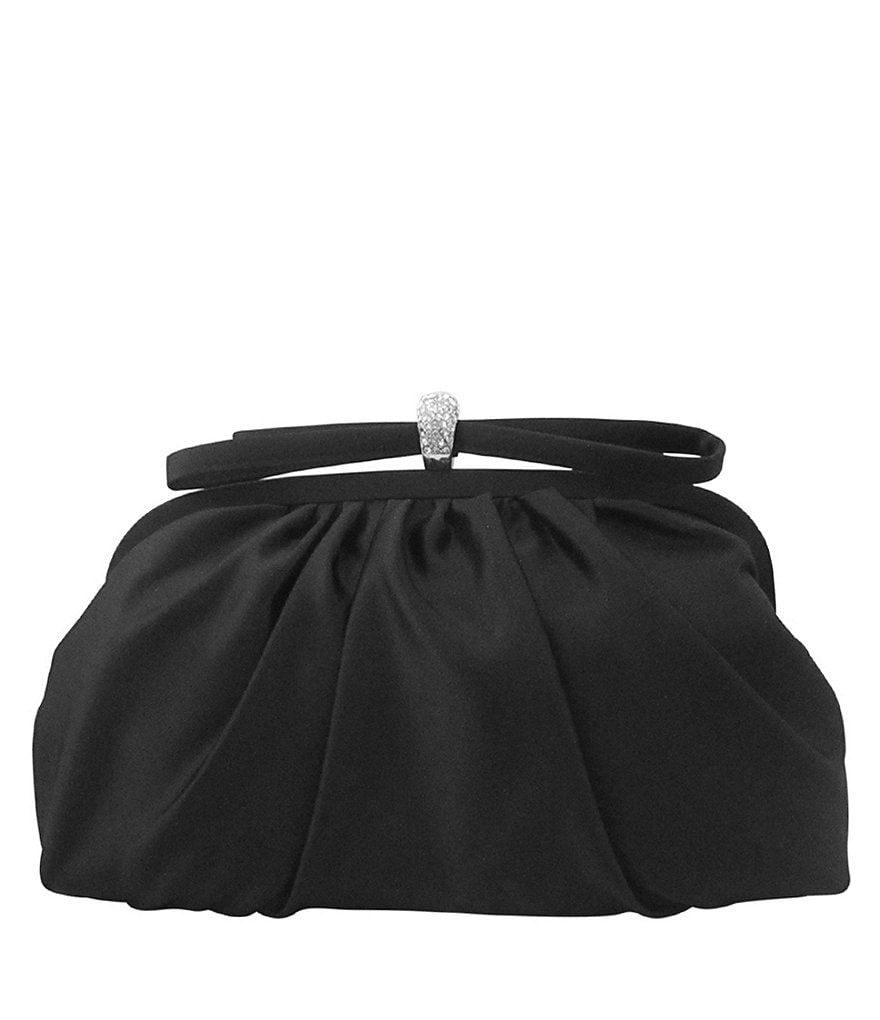 Nina Lani Satin Bow Clutch