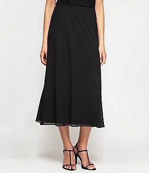 Alex Evenings Petite A-Line Chiffon Skirt
