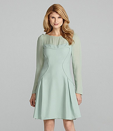 Antonio Melani Cara Long-Sleeve Georgette Dress