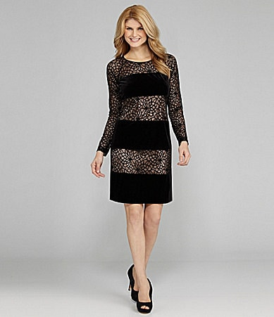 Antonio Melani Sandy Velvet & Lace Dress
