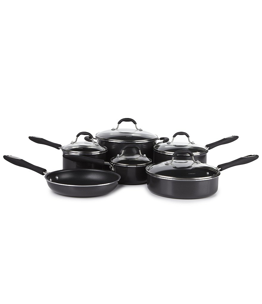Cuisinart Advantage Black 11-Piece Nonstick Cookware Set