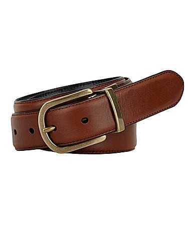 Roundtree & Yorke Edge Emboss Reversible Leather Belt $ 40.00