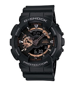 G-Shock XL Ana-Digi Rose Gold Series Black Watch