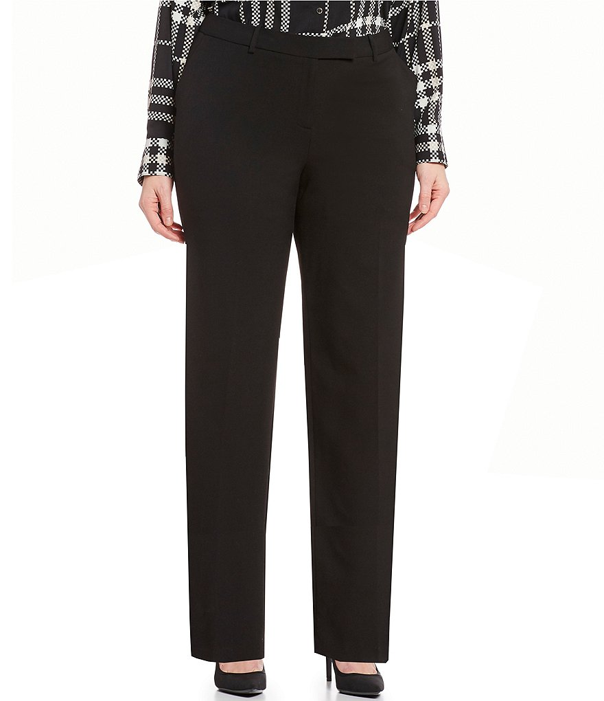 Calvin Klein Plus Madison Straight-Leg Pants