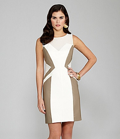 Gianni Bini Marielle Ponte & Faux-Leather Dress