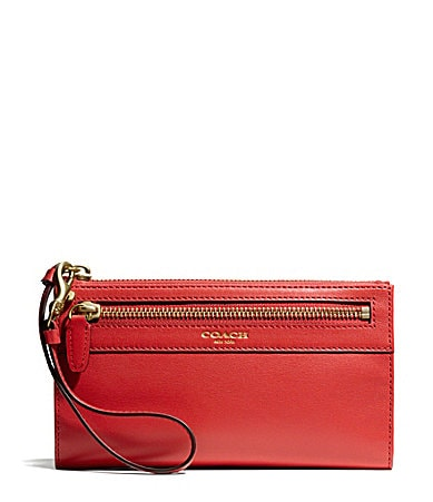 COACH BOXED PROGRAM LEATHER ZIPPY WALLET