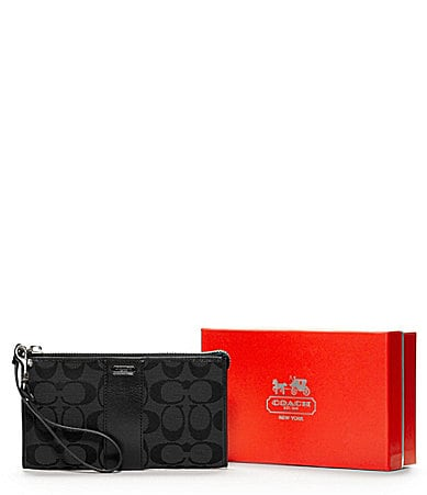 COACH SIGNATURE ZIPPY WALLET