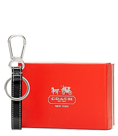 COACH CRINKLE PATENT LOOP KEY RING