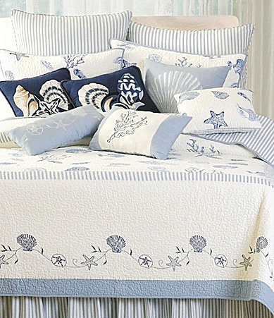 C & F Enterprises Treasures by the Sea Blue Quilt Collection