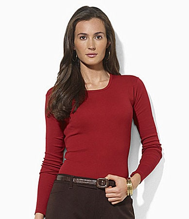Lauren Ralph Lauren Long-Sleeved Crewneck Tee