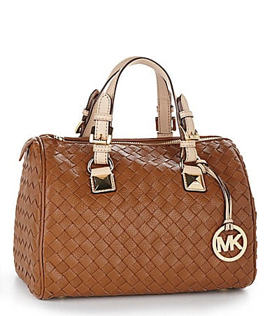 MICHAEL Michael Kors Grayson Woven Satchel Bag
