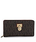 MICHAEL Michael Kors Signature Hamilton Large Logo Zip-Around Wallet