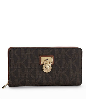 MICHAEL Michael Kors Signature Hamilton Large Logo Zip-Around Wallet Image