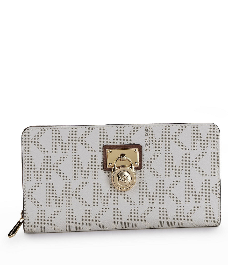 MICHAEL Michael Kors Hamilton Signature Large Logo Zip-Around Wallet
