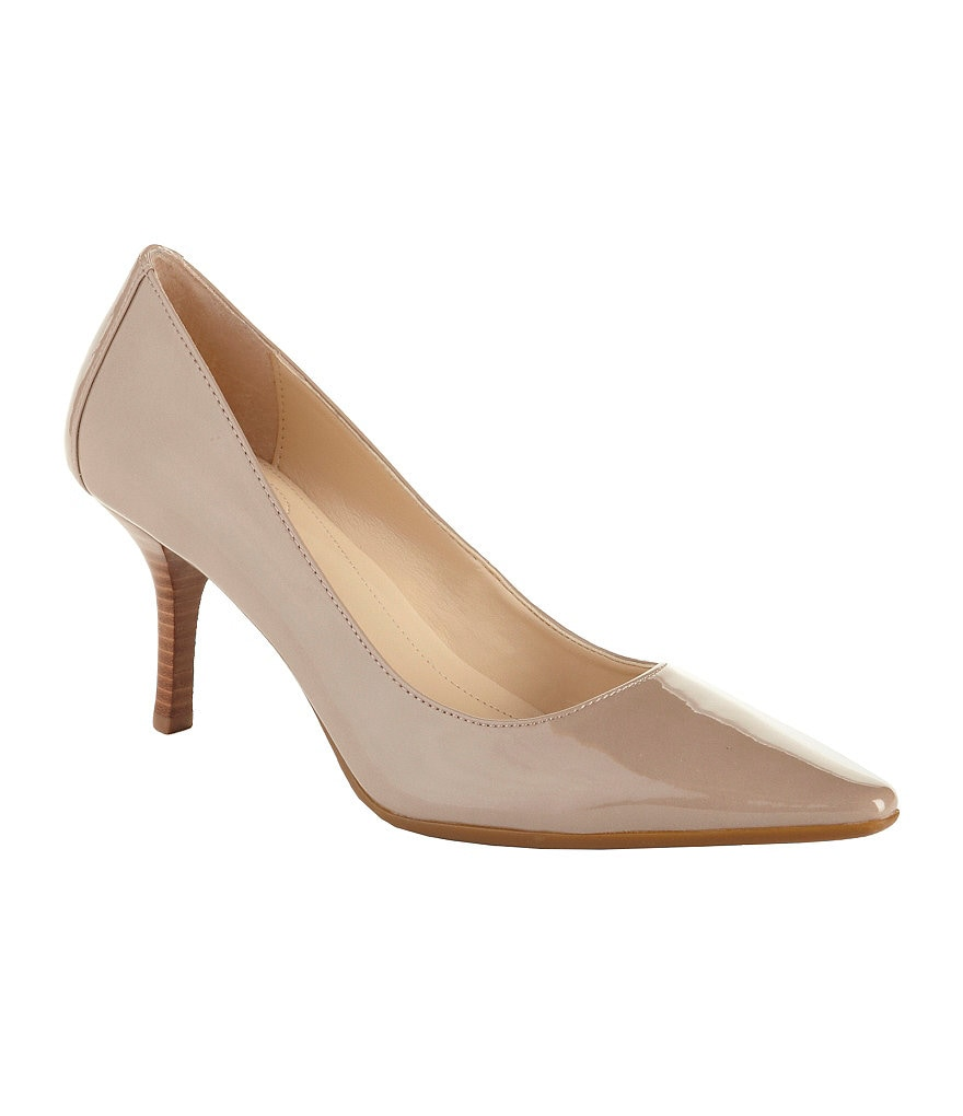 Calvin Klein Dolly Patent Pointed-Toe Pumps