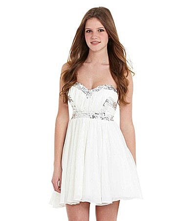 Jodi Kristopher Strapless Beaded Dress