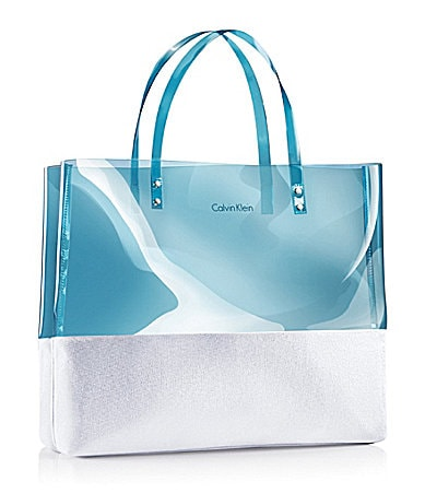 Calvin Klein Eternity Aqua Womens Bonus Clear Beach Tote Bag