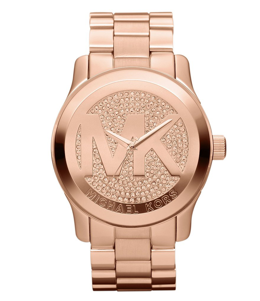 Michael Kors Runway Rose Goldtone Watch