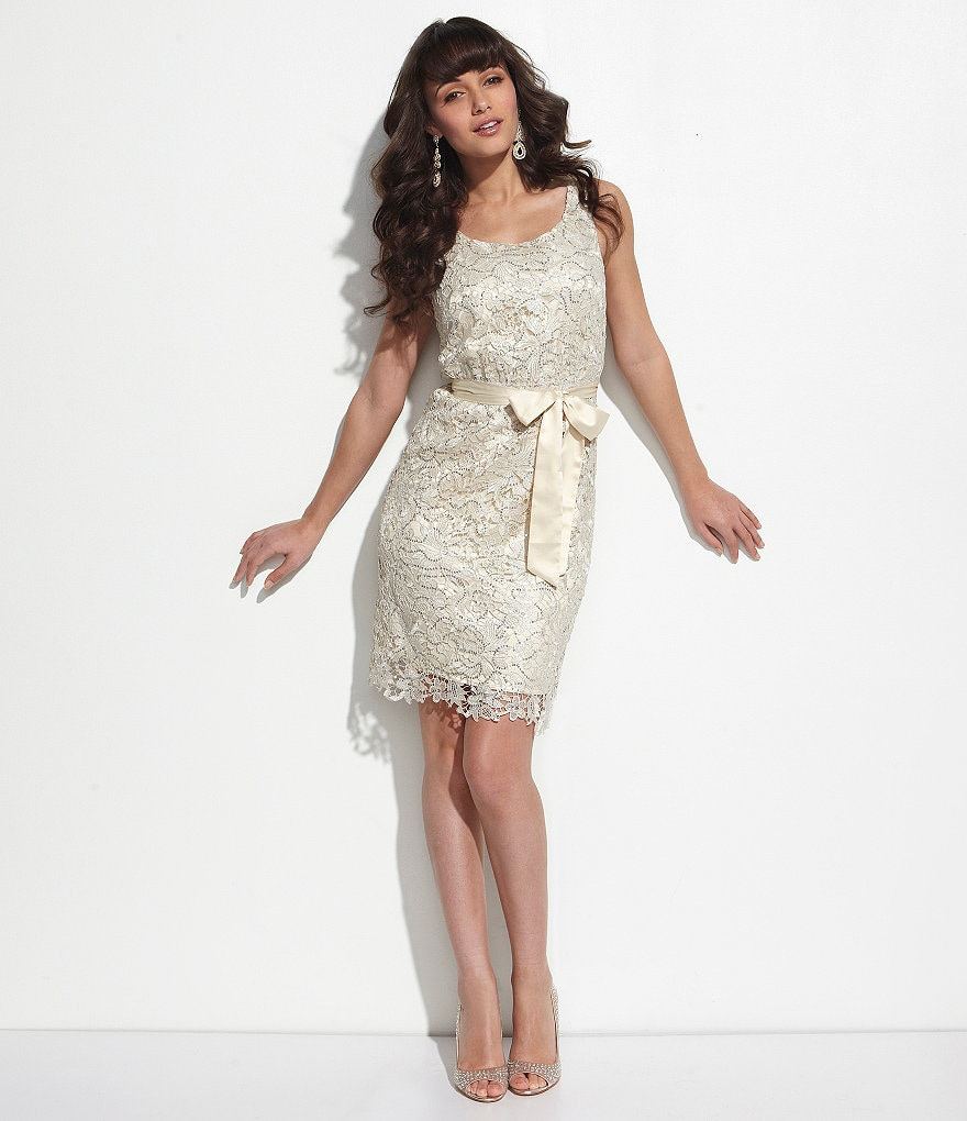 MM Couture Lace Scoopback Dress