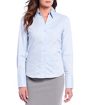 Calvin Klein Wrinkle-Free Pinpoint Oxford Blouse